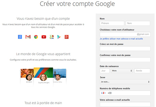 Créer un compte Google+