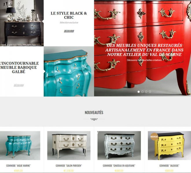 Creation site e-commerce neoclassia